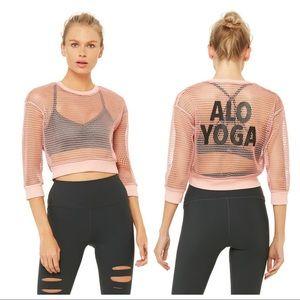 Alo Yoga Structured Graphic Mesh Pullover
